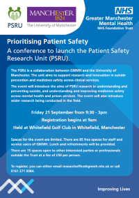 A conference to launch the Patient Safety Research Unit