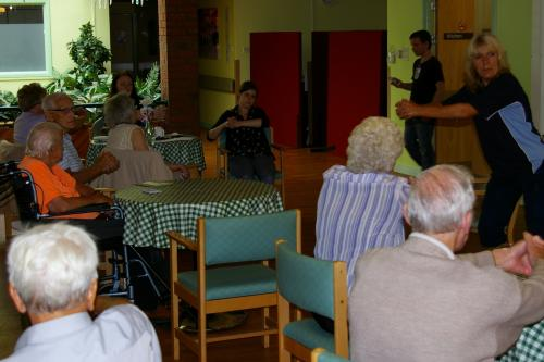 Exercise class at the Dementia Cafe at Woodlands Hospital