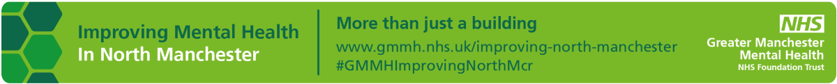 Improving Mental Health In North Manchester email banner with contact information