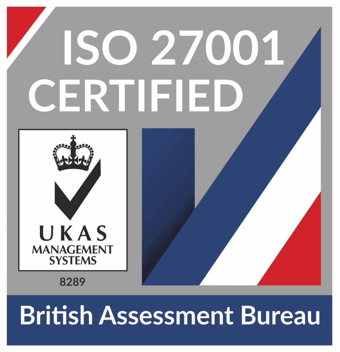 ISO 27001 Accrediation mark