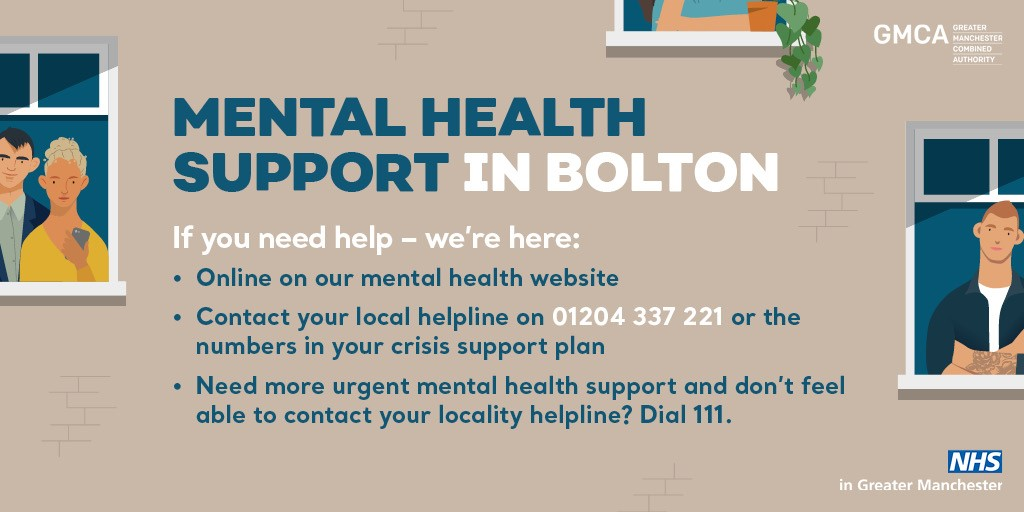 Graphic from the GMSCP's Joining Together for mental health campaign for Bolton